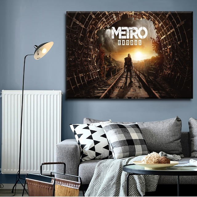 Canvas Printing Type Modular Picture Wall Art 5 Pieces Game Metro Exodus Poster For Modern Living Room Home Decorative 1