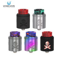 Original Vandy Vape Bonza V1.5 RDA Atomizer 2ml Vape Tank 24mm Airflow Dual AFC Option Fit E Cigarette 510 Box Mod