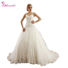 Alexzendra Tulle Wedding Dresses Ball Gown Bride Dresses