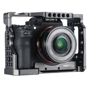Image 4 - UURig Metal Vlog kamera kafesi montaj Sony A7III A7R3 A7M3 kılıf mikrofon ile soğuk ayakkabı dağı üst kolu el kavrama rig kafes