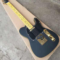 Top Quality cheap priceGrote-2047 Matte Black color Gold hardware maple fingerboard beautiful Electric Guitar,