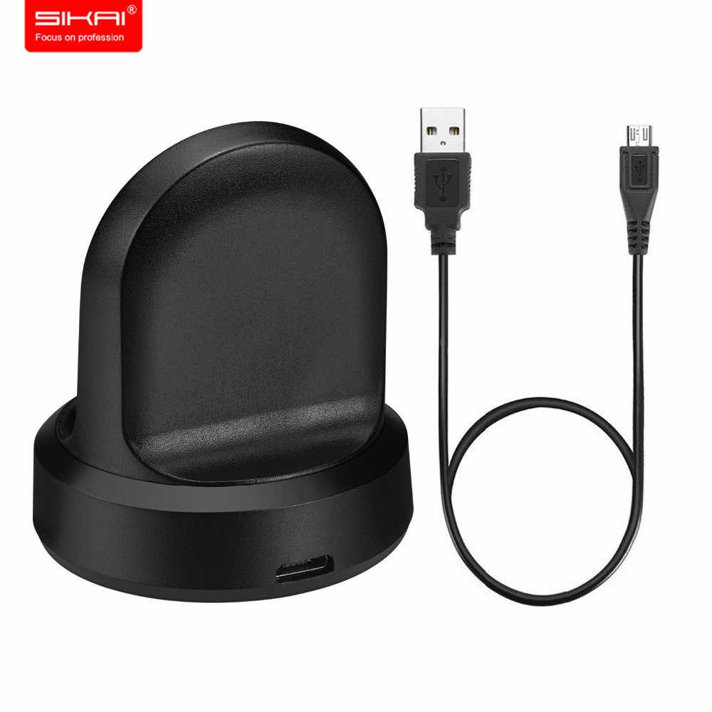 SIKAI Wireless Charging Dock For Samsung Gear S3 High Quality Charger For Samsung Gear S3 Charger For S3 Classic Frontier Watch usb charger dock charging cradle for samsung gear fit2 pro sm r360 smart watch cable cord charge base station for fit 2 sm r360