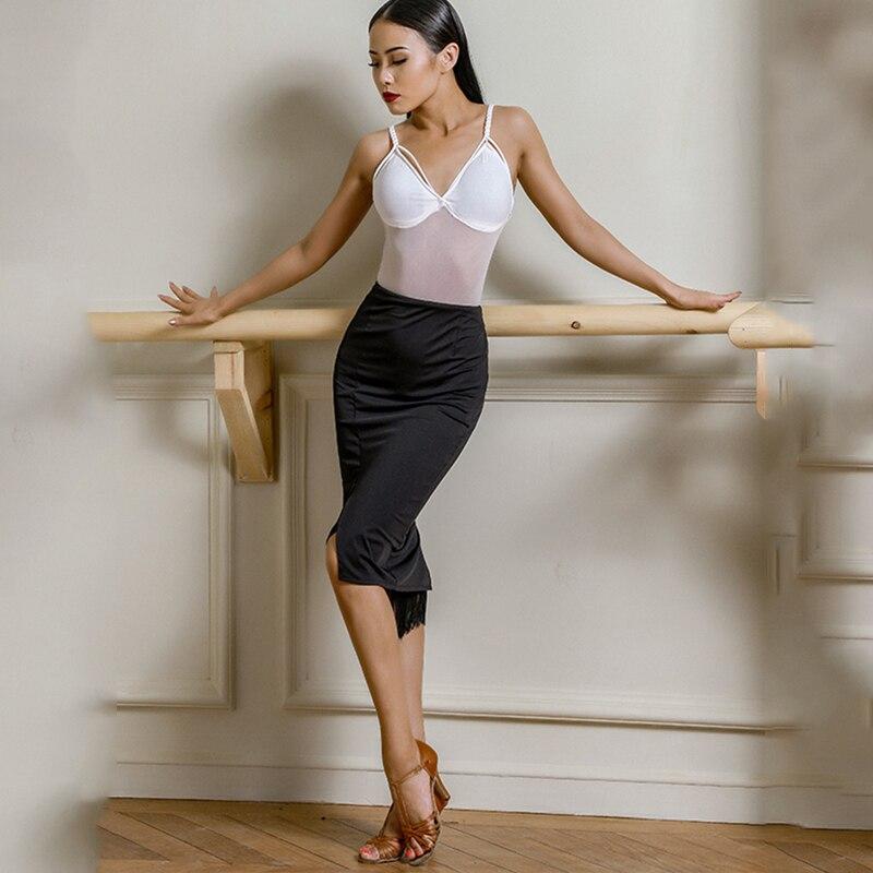 Fashion Latin Dance Skirt Women Sexy Latin Skirt Black Performance Dance Clothing Cha Cha/Rumba/Samba/Latin Dance Wear DQS2098