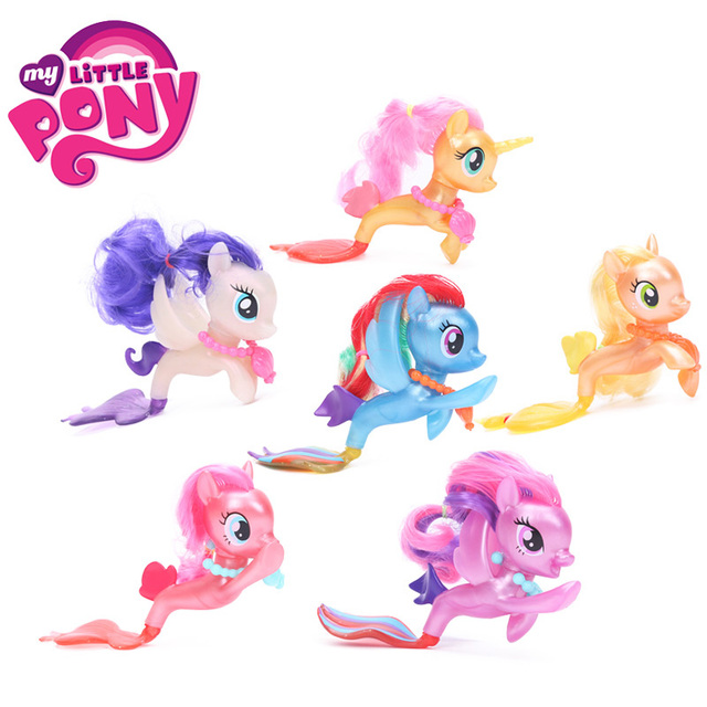 Pack of 6 Movie My Little Pony Toys Fluttershy Rainbow Dash Pinkie Pie PVC Action Figures