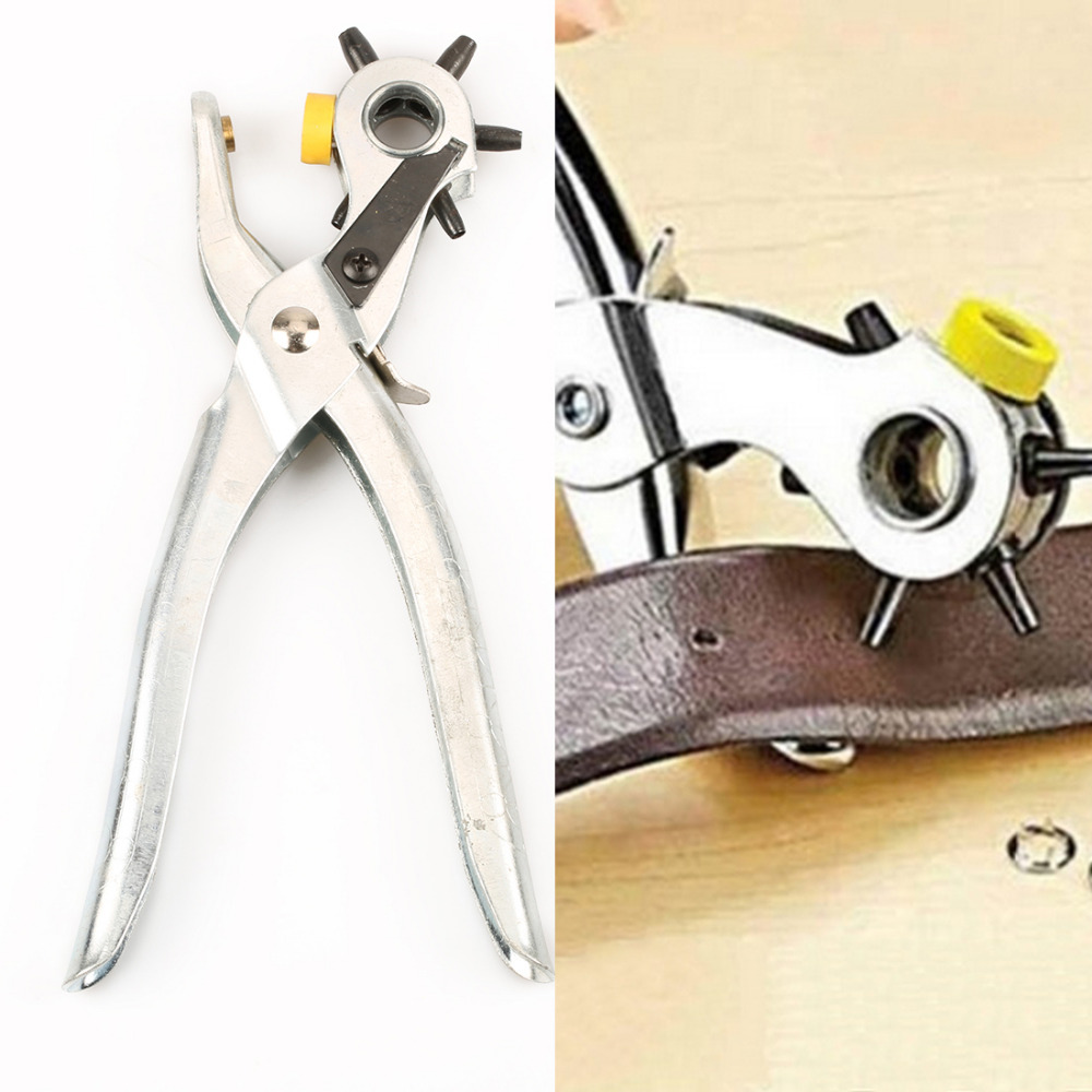 Useful 5 Size Heavy Duty Leather Canvas Belt Hole Punch Hand Pliers Belt Holes Punched Punching Plier Hole Home Pliers Tools punching holes egg conveyor belt