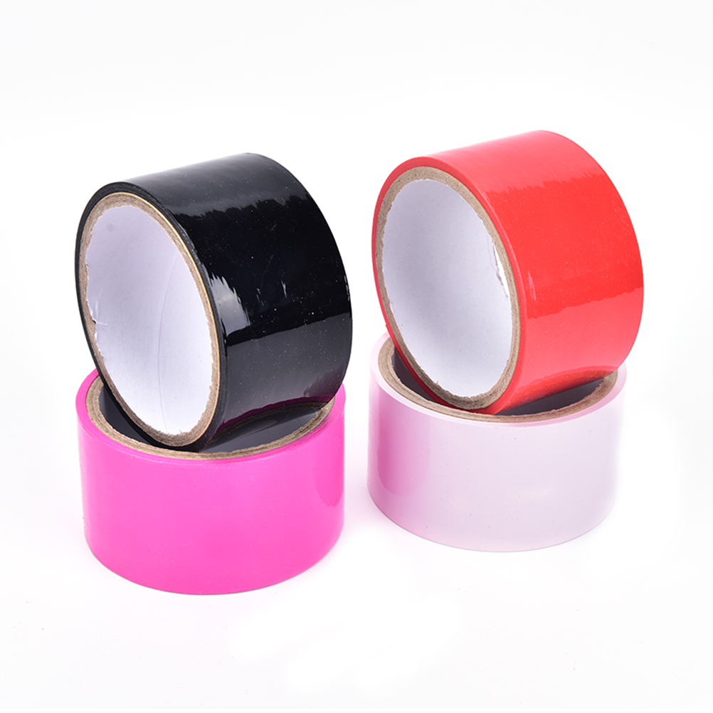 Buy 1Roll 10m Elastic Sticky Bondage Binding Tape PVC Duct Electrostatic Tape  Kinky Tied Fetish Restraint Belt BDSM Tape