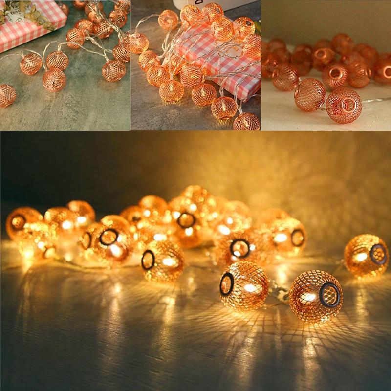 20 светодиодный Глобусы шар висит Фея Строка ночник Рождество вечерние садовый декор ...