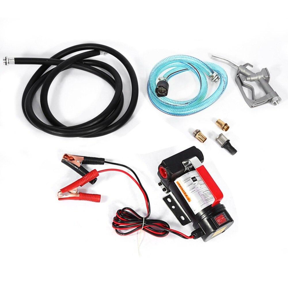 Portable 12 v Auto Pompe De Transfert D'huile Électrique Diesel Extractor Fluid avec Injecteur De Carburant Outils Accessoire
