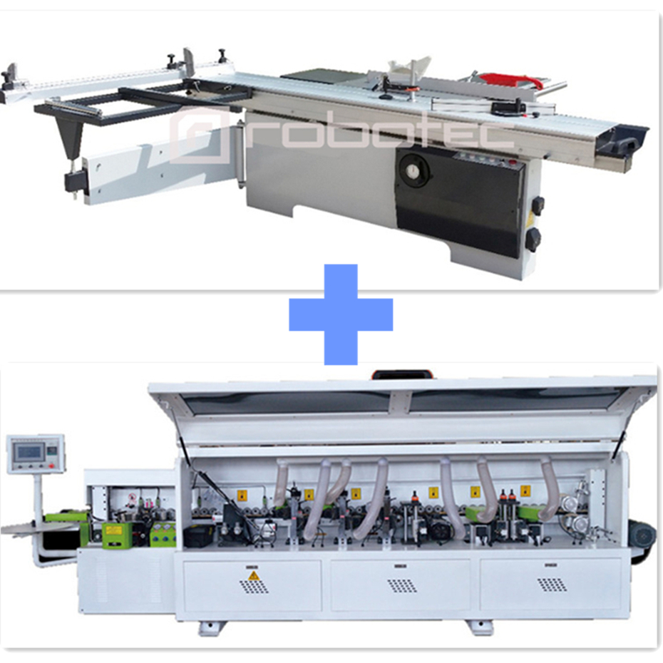 US $9600 0 |Factory Price Sliding Table Panel Saw Plus Full Automatic Edge  Banding Machine in Wood Industry-in Wood Based Panels Machinery from Tools