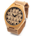Bobobird RT0450 Lovers' Design Brand Luxury Wooden Bamboo Watches With Real Leather Quartz Watch in Gift Box