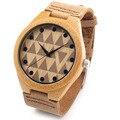 Bobobird RT0450 Projeto Dos Amantes Da Marca de Luxo Relógios Com Relógio de Quartzo de Couro Real De Bambu De Madeira na Caixa de Presente