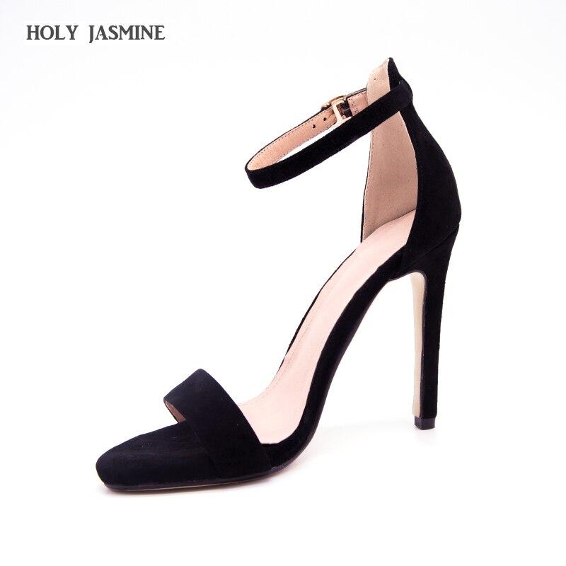 2018 Hot Sale Ankle Strap Kid Suede Women Platform Sandals Super High Heels Waterproof Female Wedding Shoes Sandalia Feminina