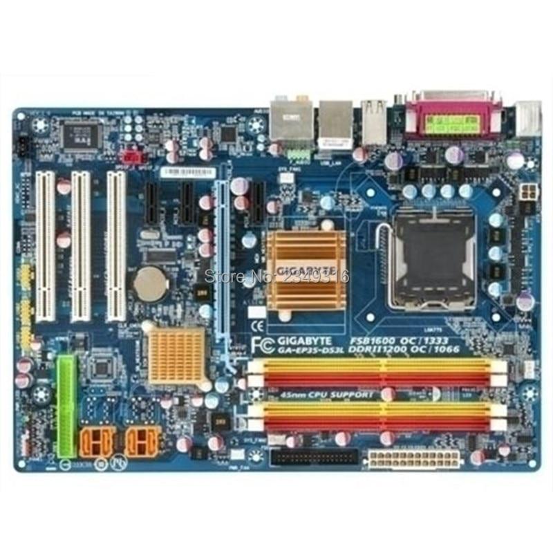 For Gigabyte GA-P35-DS3L Original Used Desktop Motherboard P35-DS3L P35 LGA 775 DDR2 8G SATA2 ATX