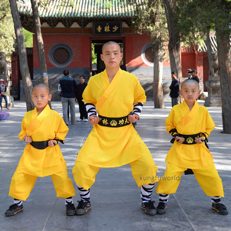 Kids and Adults Yellow Shaolin Monk Kung fu Suit Wushu Wing Chun Uniform Tai chi Martial arts Clothes custom high grade white black tai chi uniform wudang taoist robe shaolin monk suit martial arts clothes wing chun wushu clothing