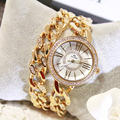 Hot Sale New Double Chain Gold Geneva Watches Women Luxury Famous Brand Reloj Mujer Marca De Lujo Famosas Hodinky Women