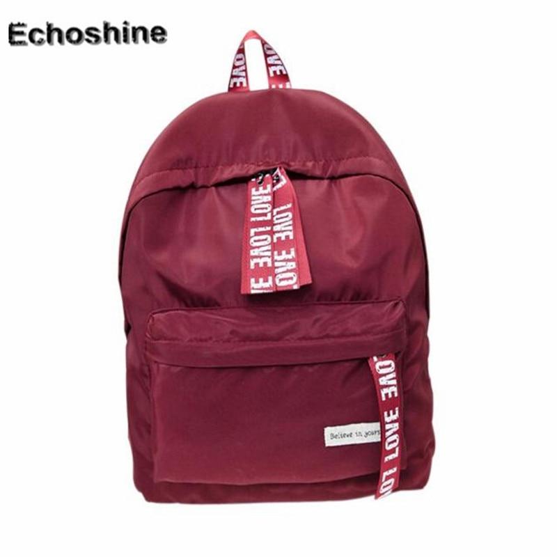 2016 popular Letter zipper casual backpack School Bag Travel Backpack Satchel Women Shoulder Rucksack gift wholesale A2000