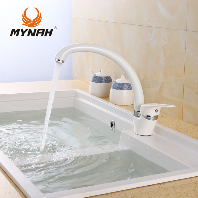 MYNAH Kitchen Faucet Mixer Water Tap Single Holder Single Hole ...