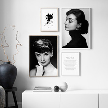 Audrey Hepburn Quotes Black White Nordic Posters And Prints Wall Art Canvas Painting Vintage Pictures For Living Room Decor