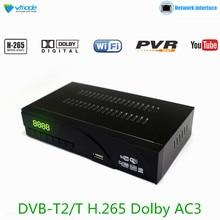 Vmade оригинальный телеприставки DVB-T2/T HD 1080 P цифрового ТВ-приемник Поддержка построен H.265/HEVC Dolby AC3 Youtube ТВ тюнер