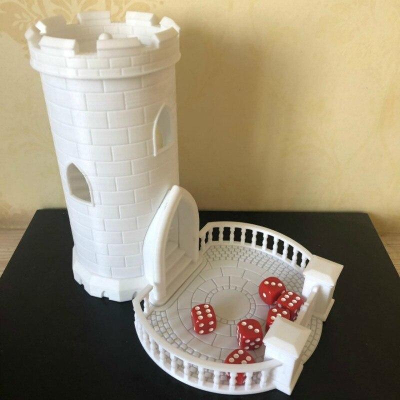 Dés tour donjons et Dragons mdn Miniature construction résine Figure modèle Kit avec plateau et château escalier en colimaçon 3D imprimé