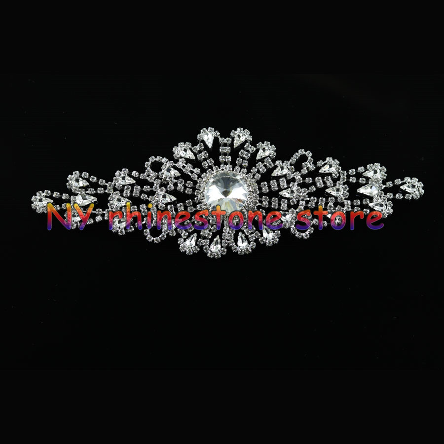 Inlay Rhinestone Sweet Heart Rhinestone Bridal Sash Applique Bridal Dress Gold / Silver Wedding Applique Belt YH205