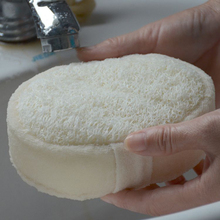 Buy 2019 New High Quality Patterns Modern Natural Bath Shower Wash Body Pot Sponge Scrubber Tool Towel directly from merchant!