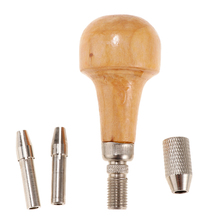 Bead Drill Bits Drilling Holes Pin Vise Palm Grip Small Handy Vice With Wood Ball comfort shape Handle Jewelry Tool