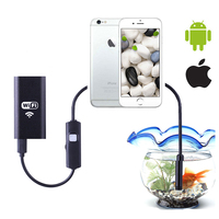 8mm Wifi Endoscope Iphone Endoscope HD 1m 2m Borescope Waterproof Camera Endoscopio Android IOS Hard Cable