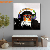 Unframed Modern Abstract Oil Painting Handpainted Canvas Painting Home Decoration For Wall Art Picture Orangutan Listen