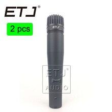 ETJ Marca 2 Pcs de Alta Qualidade Handheld Karaoke Microfone Com Fio Dinâmico Vocal Microfone SM57 SM57LC