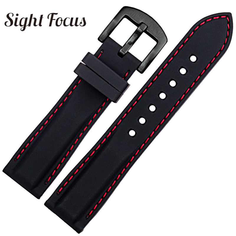 Red Stitched Black