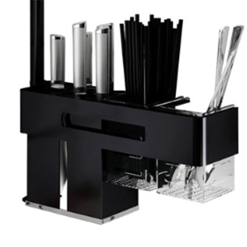 Space Aluminum Knife Shelf Wall Mount Knife Holder Kitchen Bar Storage Block Knife Rack Kitchen Tools Knife Fork Chopsticks St