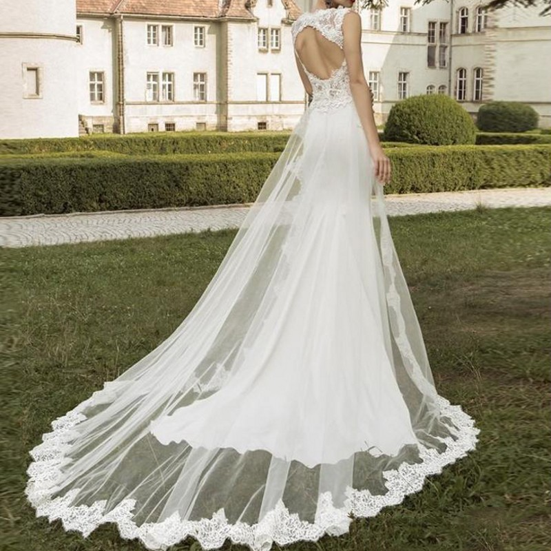 robe de soiree longue 2019 Hi Low abendkleider robe Elegant Long Spaghetti Custom Made wedding dresses in Wedding Dresses from Weddings Events
