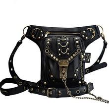 New Designer Steampunk Retro Rock Gothic Goth Shoulder Waist Bags Packs Victorian Style for Women Men +Leg Thigh Holster Bag