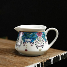 PINNY Color Enamel Porcelain Fair Cups 170ml Ceramic Cha Hai Hand Made Chinaware Minute Tea Utensils Chinese Kung Fu Teacups