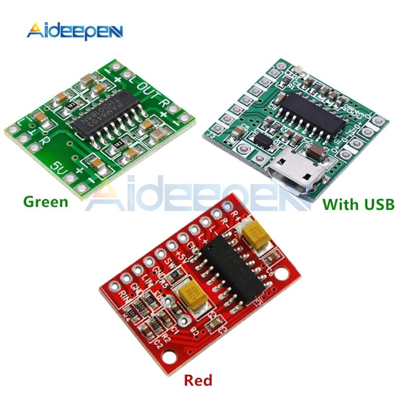 DC 2, 5 V-5, 5 V PAM8403 супер мини-цифровой усилитель доска 2*3 W Класс D Цифровой усилитель доска эффективный Micro USB блок питания