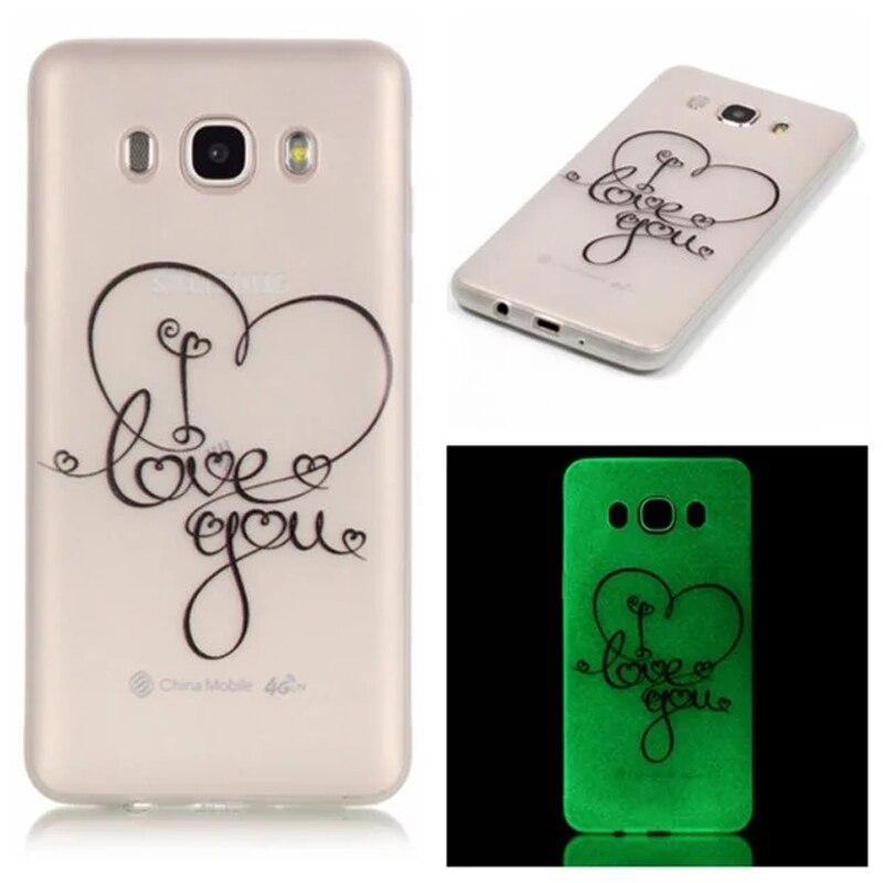Para samsung galaxy j7 casos  noctilucentes tpu accesorios del teléfono funda pa