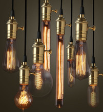8pcs/lot brass sockets E27 DIY lamp accessories edison lighting pendants industrial copper holder with fabric wire pendant lamp