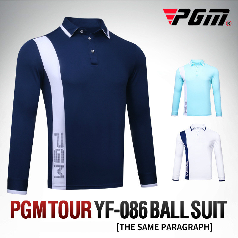 Autumn long sleeved mens golf clothing men t shirt competition with the same style of wind protection