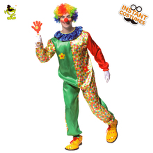 QLQ Flower Clown Costumes For Adult Mens commedy Halloween Party Funny Buffon