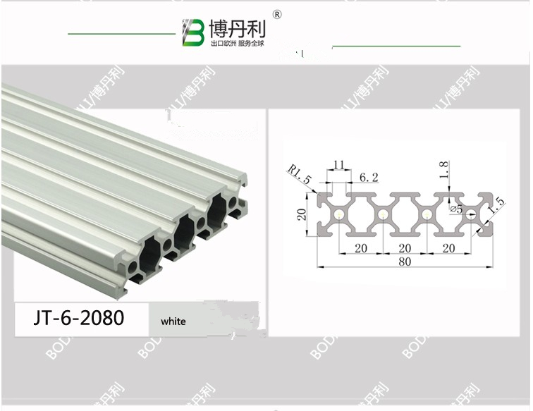 700mm Length 2080 Aluminium Alloy T Slot Profiles Extrusion Frame Linear Rail For CNC 3D Printer Parts for DIY