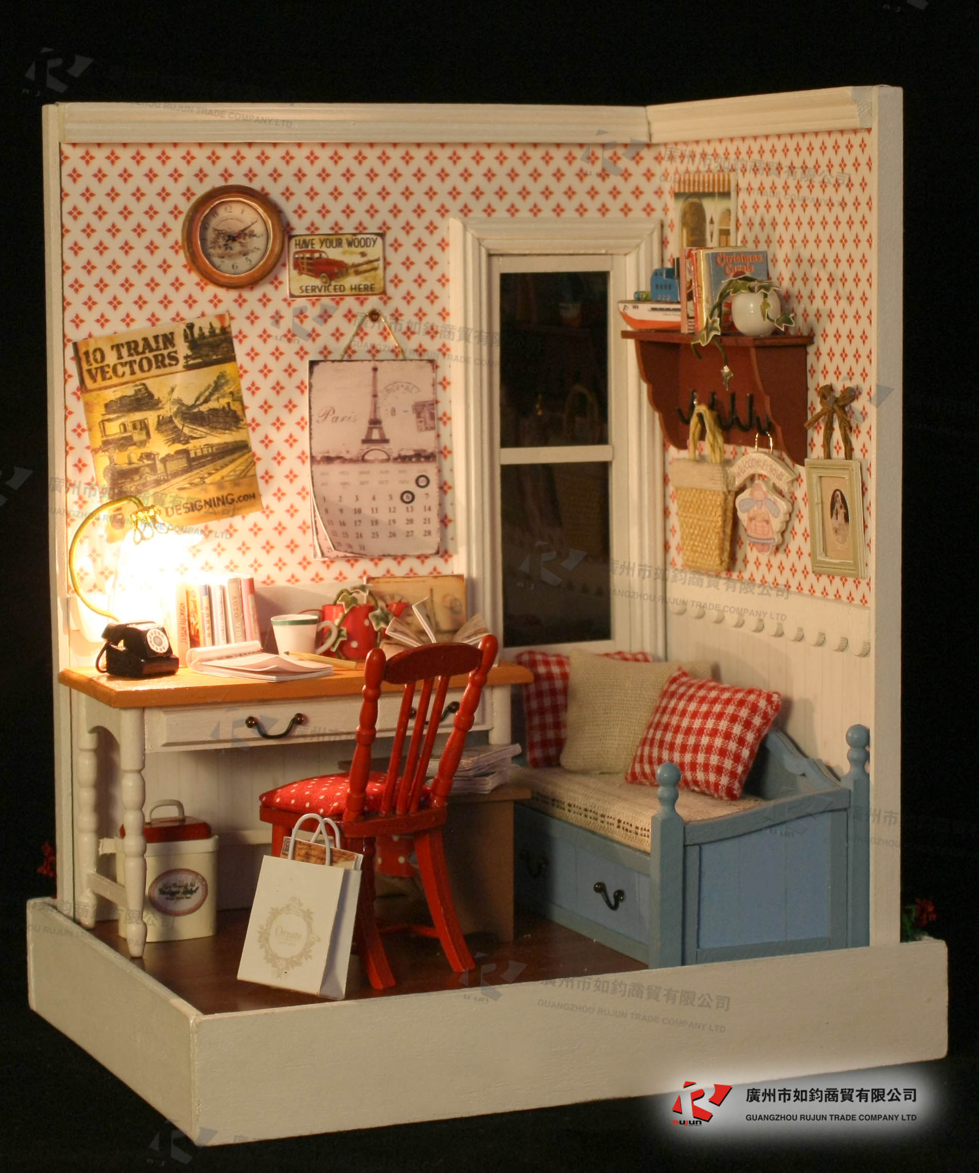 Wooden Miniature Doll House Furniture Diy Toy