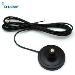Dlenp телевизионные антенны удлинитель 3 м длина RP-SMA мужчин и женщин Wi Fi Магнитная база для маршрутизатора беспроводной сетевой