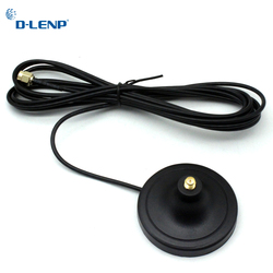 Dlenp Antenna Extension Cable 3M length RP-SMA Male to Female WiFi Magnetic Base for Router Wireless Network Card of Pure Copper