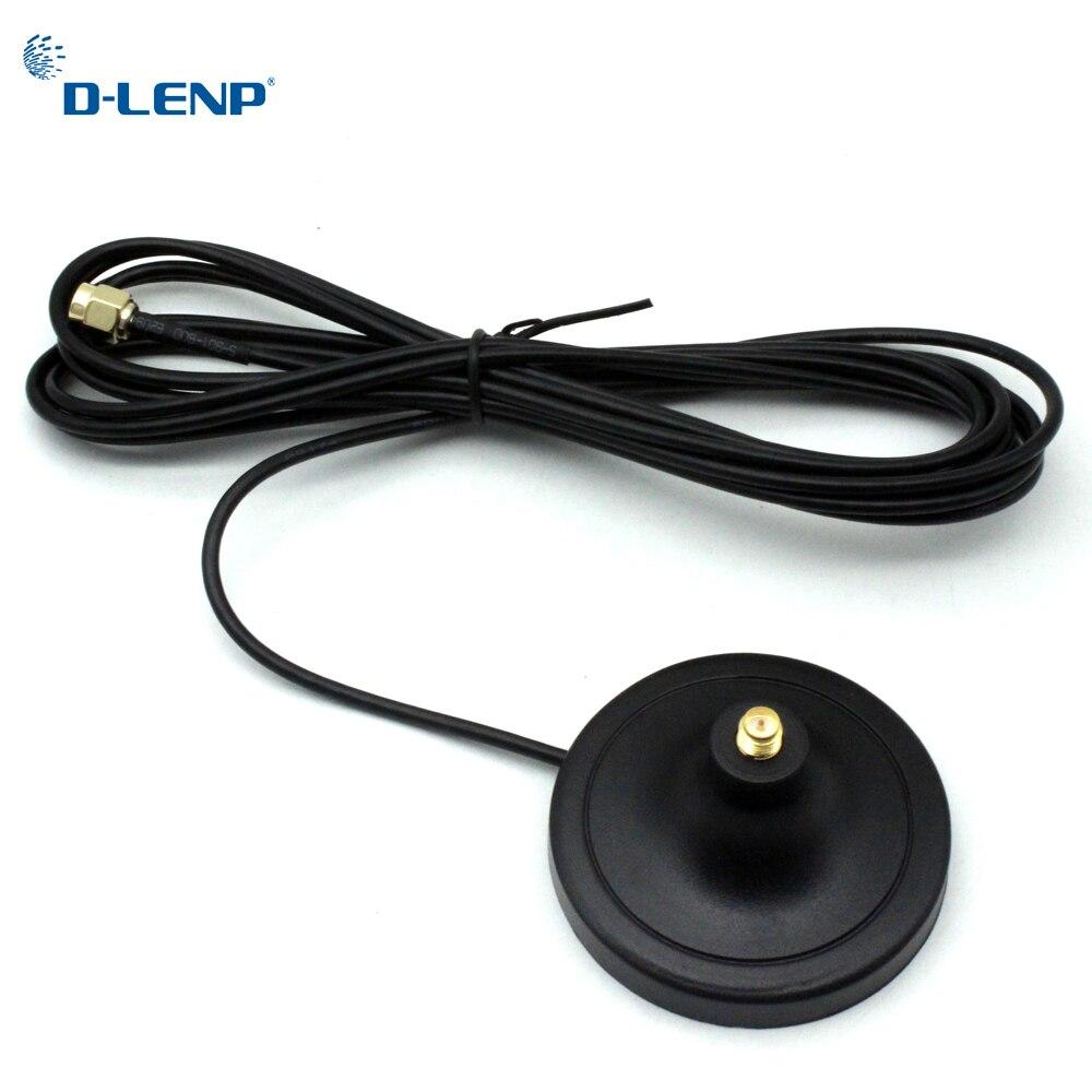 Dlenp antena extensão cabo 3 m comprimento RP-SMA macho para fêmea wi fi base magnética para roteador placa de rede sem fio de cobre puro