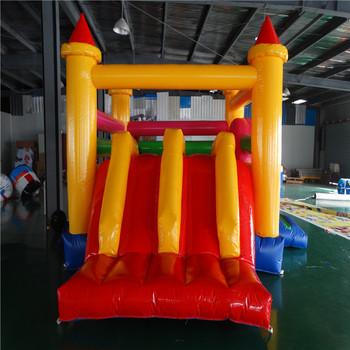 Wysokiej jakości PVC nadmuchiwane bounce dom z małych slajdów tanie i dobre opinie Plac zabaw na świeżym powietrzu NoEnName_Null 3 lat Nadmuchiwany plac zabaw dla dzieci Duża trampolina XZ-BC-037 as customer request