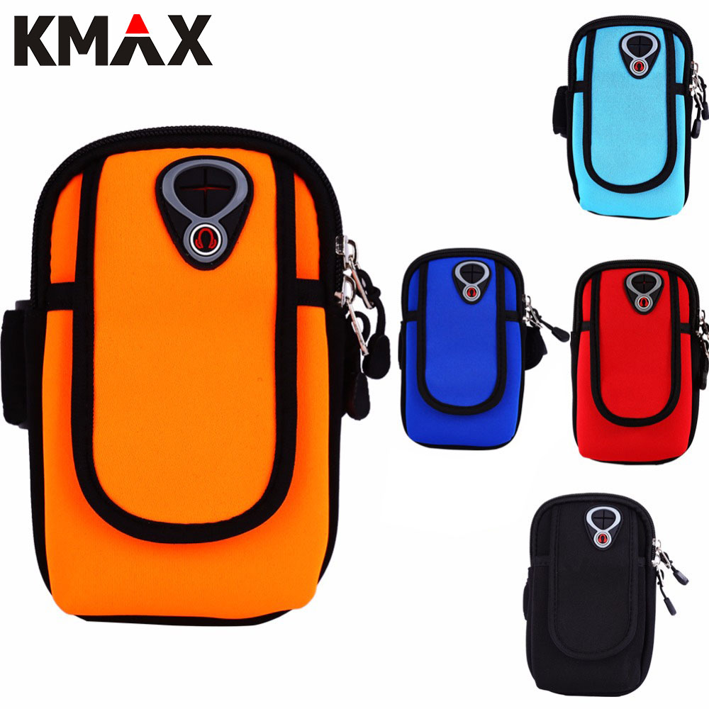 KMAX Outdoor Sports Climbing <font><b>Jogging</b></font> Armband Case Holder For <font><b>iPhone</b></font> Samsung Arm Phone Bag Running <font><b>Accessory</b></font> Band Gym Pouch Belt