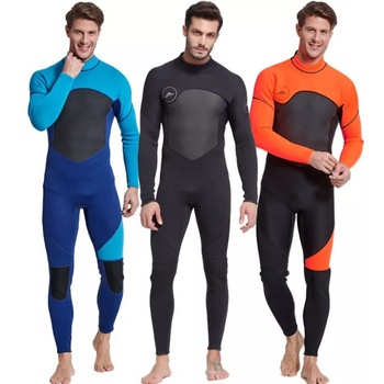 Men's Full Body Wetsuit, 3mm Men Neoprene Long Sleeves Dive Suit – Perfect For Swimming/Scuba Diving/Snorkeling/Surfing Orange