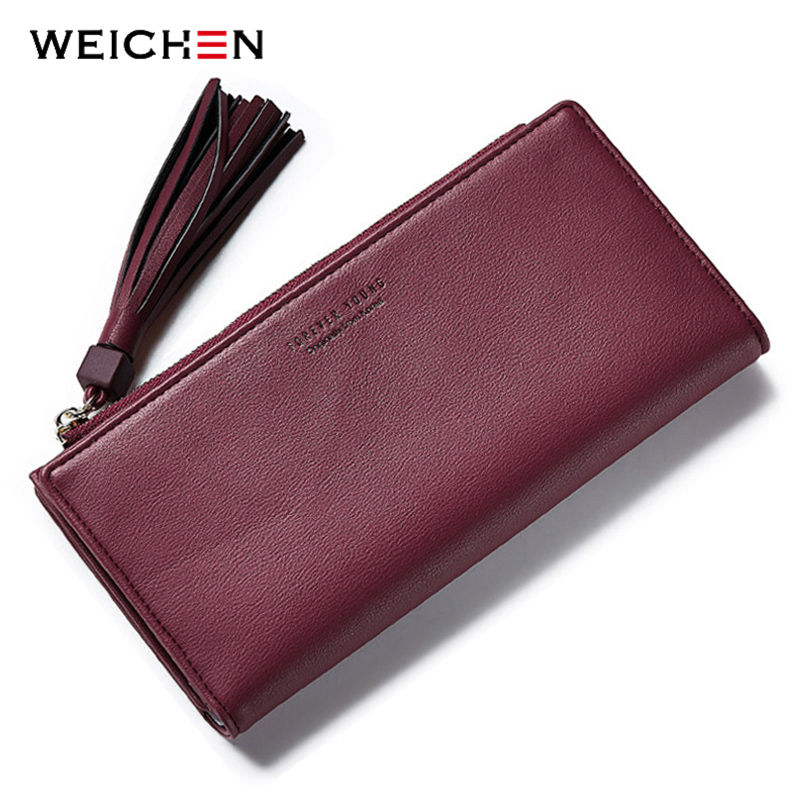 Big Capacity Wallets Ladies Clutch Leather Bags ID-Card Holders Cell
