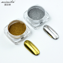 1 Box 0.3g Holographic Glitter Gold Silver Powder Shining Mirror Effect Chrome Manicure Pigment Dust Nail Art Decorations